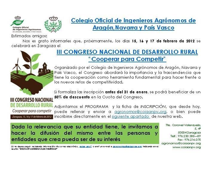 Congreso desarrollo rural