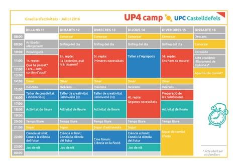 11 a 16 de juliol de 2016 - UP4 Camp UPC Castelldefels