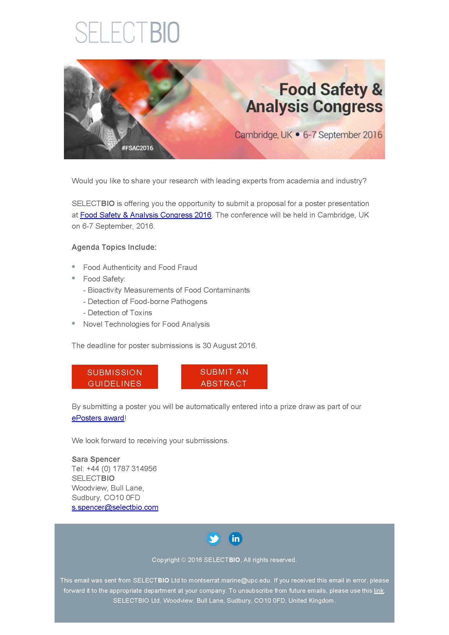 Food Safety and Analysis Congress